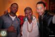 "Hit-Boy, Stacy Barthe and John Legend at the ""Stacy Barthe Presents The Seven Days Of Christmas"" EP Listening Party at DMP Studio in Los Angeles on Dec 5"