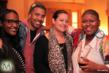 "Ethiopia Habtemariam, Eddie Blackmon, Jilly T, Stacy Barthe at the ""Stacy Barthe Presents The Seven Days of Christmas"" EP Listening Party at DMP Studio on Dec 5"