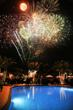 Fireworks at family resort complex at The Polo Club of Boca Raton