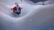 Santa dashes through the snow on top of a modo-made 3D razor head in a re-make of an iconic Philips Norelco holiday television commercial done by re:think studios