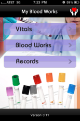 "Track your Health with ""My BloodWorks"" APP"