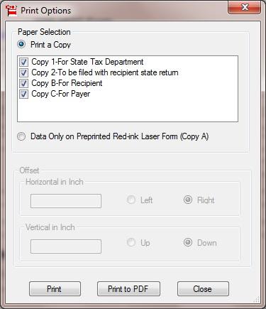 print form 1099s