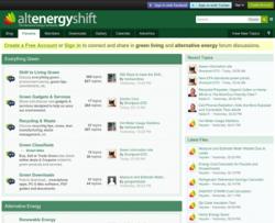Alternative Energy Shift - Green Living & Renewable Energy Forums