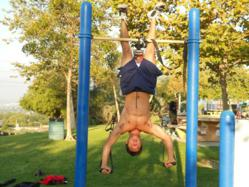 CrossCore® War Machine® Rotational Bodyweight Trainer™ for muscle ups, dips, shoulder presses, chest presses and more.