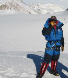 Dave Hahn on the summit of the Vinson Massif, November 26, 2011