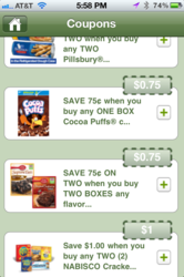 Shopper matches coupons to users shopping lists.