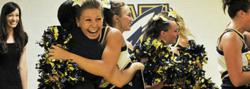 Wellston High School students celebrate their newly rebuilt athletic facilities.