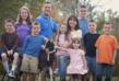 PJ Jonas with husband Jim & their 8 children celebrate Mother's Day on family farm where they make Goat Milk Stuff soaps.