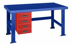 BigBlue Workbench with Alpha Drawers on the left