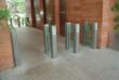 ClearStyle optical turnstile installed in office high-rise for lobby security