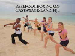 Barefoot Boxing on Castaway Island, Fiji using ShadowBoxer