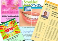 Examples of email greeting cards, custom emails and newsletters.