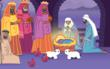 Still of 'The Nativity', animated Christmas ecard from Katie's Card
