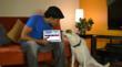"Sasha and director De Veau Dunn on the set of ""Good Doggie"""