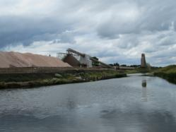 Mined rock salt at Winsford, Cheshire.