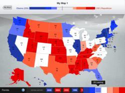 Sample 2012 Electoral College Map