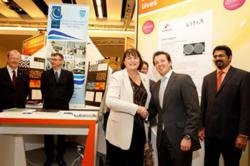 EU Commissioner for Innovation Maire Geoghegan-Quinn & John McKeon founder of airmid