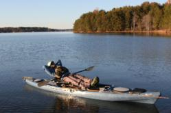 The stability and ease of use of Jackson Kayak's new Cuda makes kicking back easy.