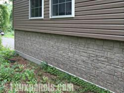 Stone veneer PVC siding is a DIYer's dream thanks to its durability and ease of installation