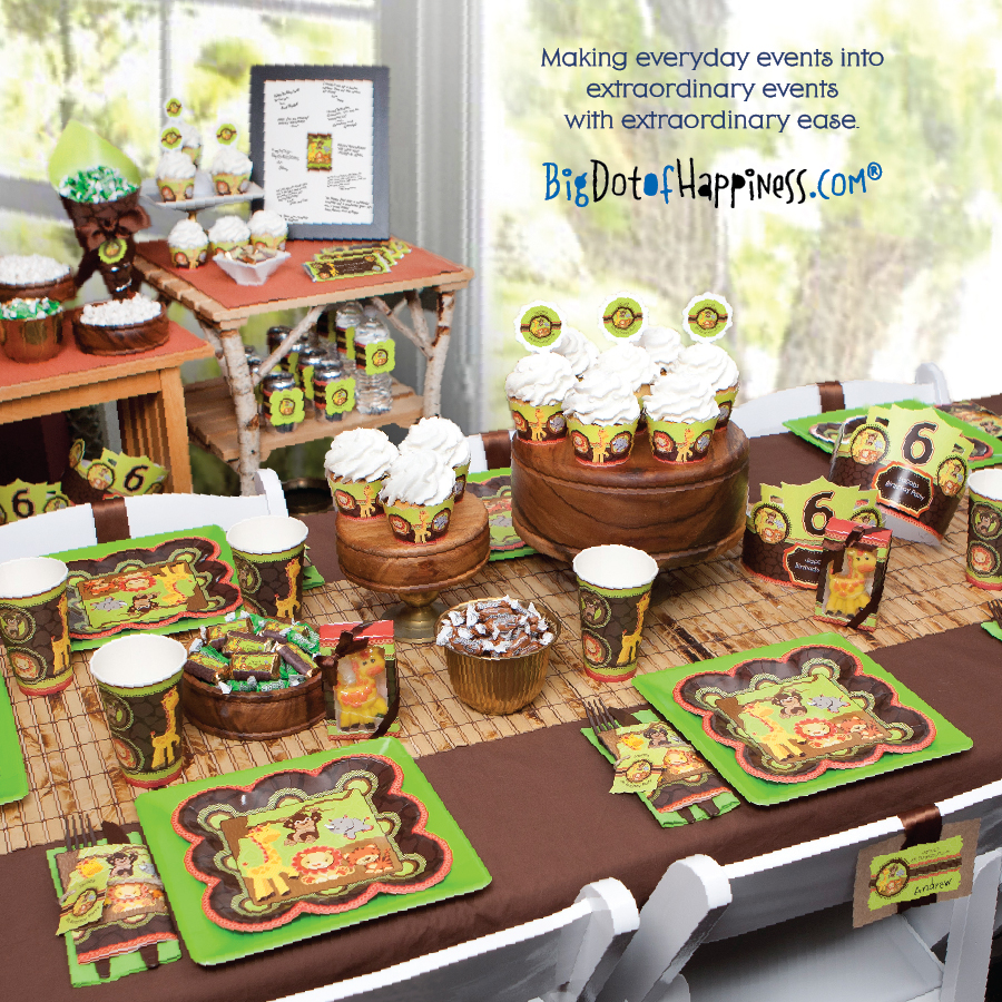 Jungle Baby Shower Decorations: New Product Catalog From Big Dot Of Happiness, LLC