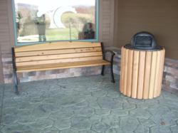 Natural's Collection Park Bench & Trash Receptacle