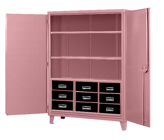 Pink Storage Cabinets ~ A plus warehouse announces breast cancer awareness quarter