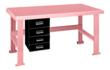 Pink Elephant Work Bench With Alpha Drawers