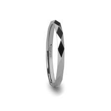 2mm Wide Womens Tungsten Ring