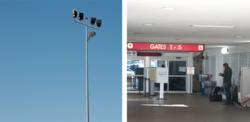 Noribachi exterior and interior LED lighting at Long Beach Airport