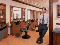 Third Generation Master Barber Greg Zorian in one of Gregory's Barbershop