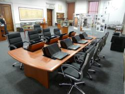 Longitudes  Custom Computer Conference Table installed at NYC Department of Records