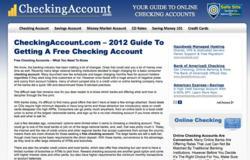 CheckingAccount.com 2012 Guide To Getting A Free checking Account