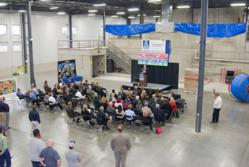 Ribbon cutting celebrates second electron beam accelerator at E-BEAM Services, Inc.