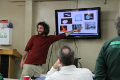 Michael Gutman presents on the energy-efficiency of LED lights.