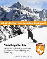 McNett, Gear Aid, gear care and maintenance, winter solstice, free lift tickets, snowplay contest