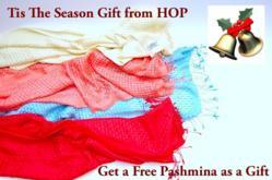 Free Gift of Basket Weave Pashmina