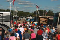 Attendees flock to the motorhome exhibits at FMCA conventions.