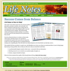The BLU Group, website design, web design, life notes, financial newsletters, website development, advertising, newsletters