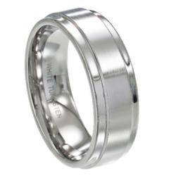 Men's White Tungsten Ring