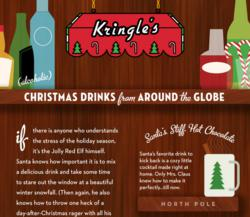 Christmas cocktail infographic