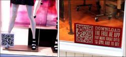 QR codes in retail store window