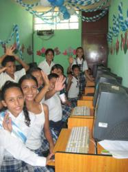 Frutera, banana company, computers, computers lab, Guatemala, Escuintla, rural, village, students, Education