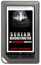 'Scream Deconstructed' cover on a Nook Color e-reader.