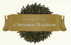 History of Christmas traditions infographic
