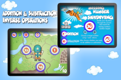Mathical Vol. 1 is a 5 in 1 collection of awesome math practice games for kids.