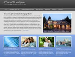 5-Year-ARM.com - consumer mortgage rate research wbe site.