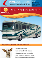 Sunland RV Resorts Gives Away a Free Week Stay at ANY of their Luxury Resort Properties
