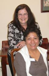 Anetta Townsend, LPN, Director of the Daystar Assisted Living Team and Glenda Specht, RN, Team Oversight.