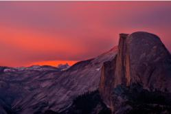 Photo by Nancy Robbins: The road to Glacier Point, offering a sweeping view of Yosemite Valley, is still open due to a dryer than normal winter.
