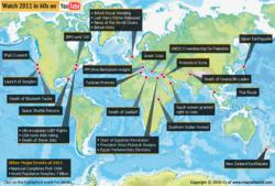 Top Events of 2011 on a World Map